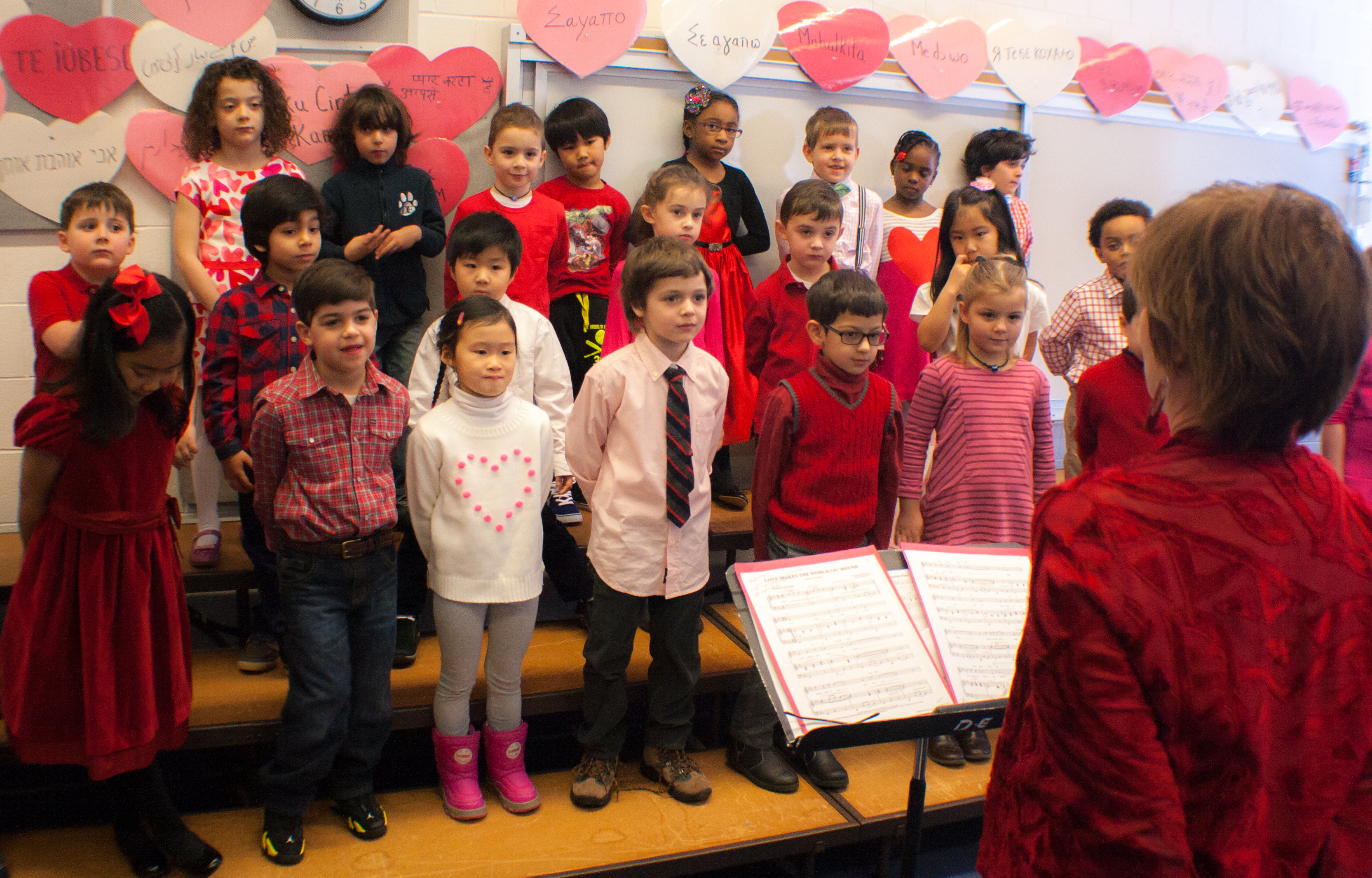 Valentine's Assembly and Art Exhibit