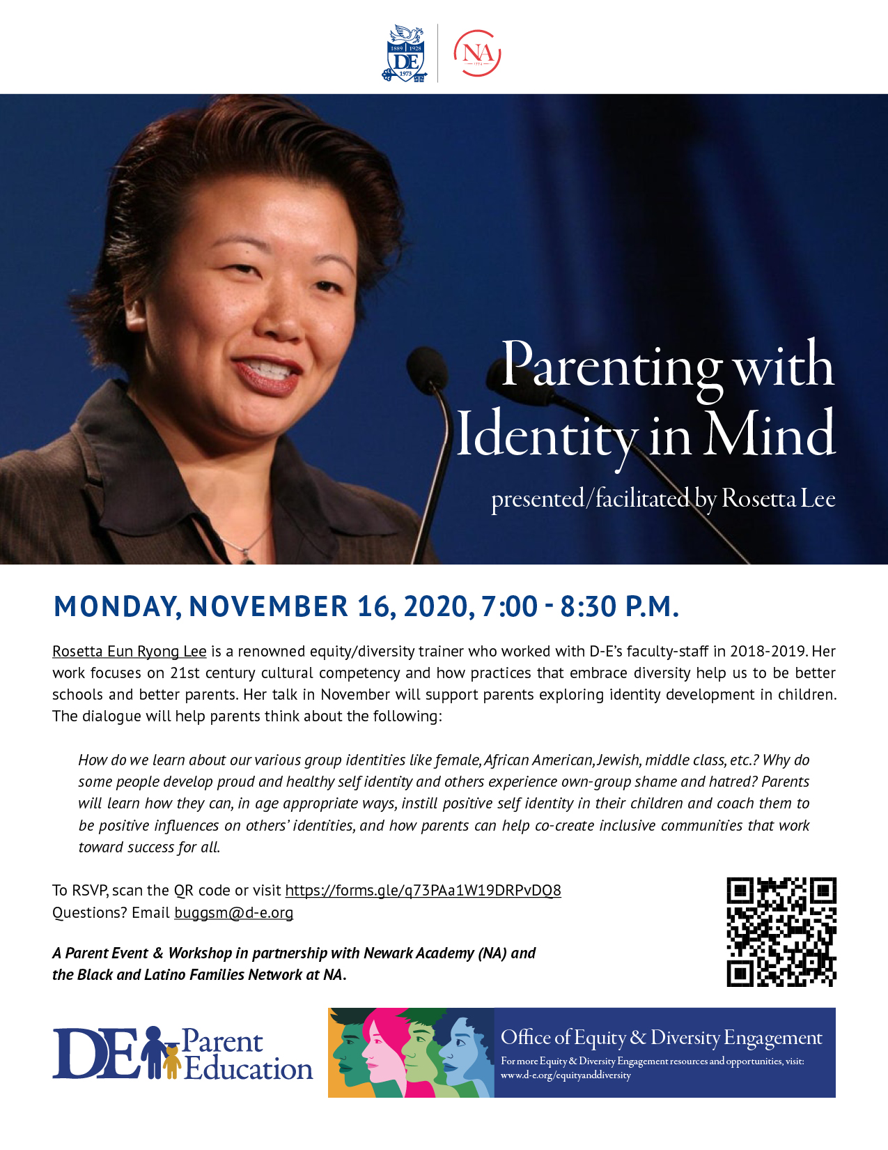 Parenting with Identity in Mind presented/facilitated by Rosetta Lee