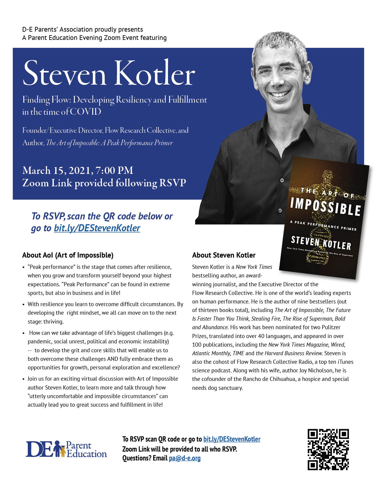 Steven Kotler – Finding Flow: Developing Resiliency and Fulfillment in the time of COVID