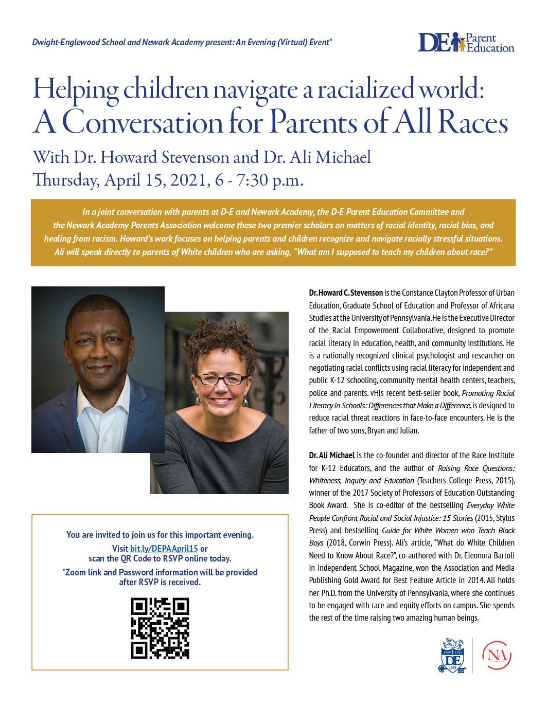 Parent Ed Talk: Helping children navigate a racialized world: A Conversation for Parents of All Races