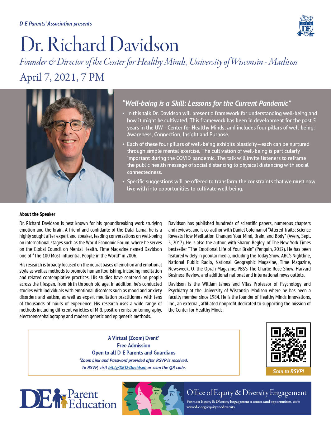 Parent Ed Presents: Richard Davidson – Well-being is a skill: Lessons for the current pandemic