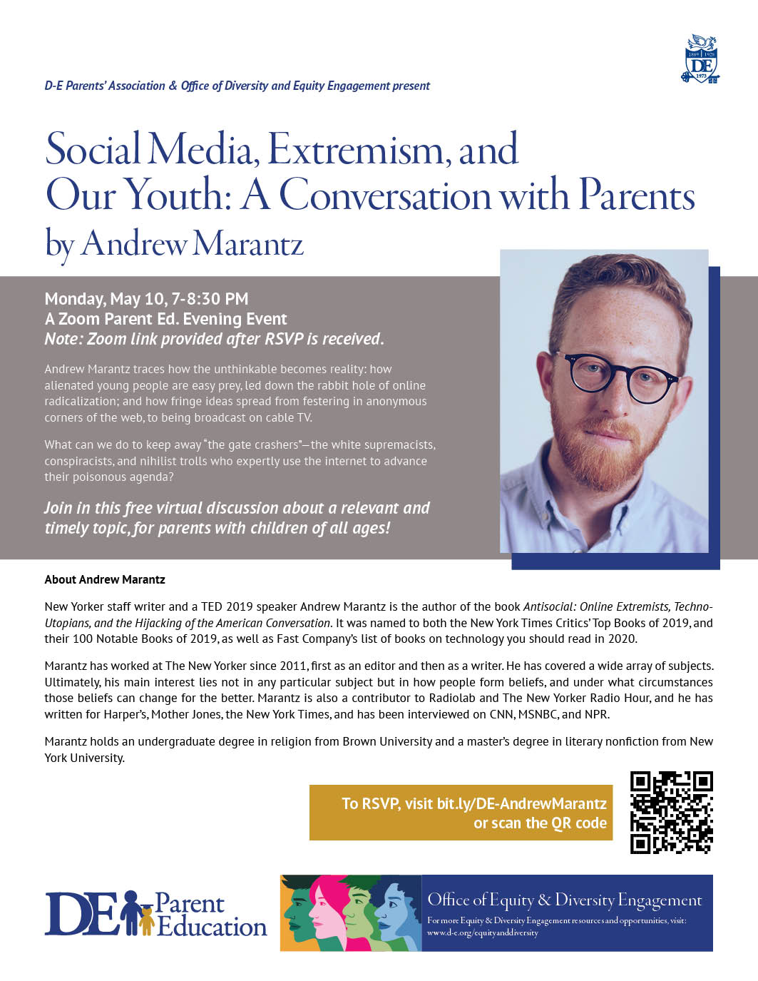 Social Media, Extremism, and  Our Youth: A Conversation with Parents by Andrew Marantz